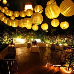 Wholesale Diy String Lanterns - LED Outdoor Fairy Lantern Solar String Lights LED Christmas Globe Lights For Indoor And Outdoor Home Lawn Garden Wedding Patio Party And Ho