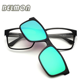 Wholesale Spectacles Clip - Wholesale- Fashion Optical Eyeglasses Frame Men Women Clip On Magnets Polarized Sungllasses Myopia Glasses Spectacle Frame For Male RS016