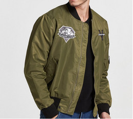 Wholesale Leopard Men Jacket - METAL GEAR SOLID V The Phantom Pain Men's Diamond Dogs Jacket Alloy best gift high quality