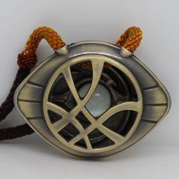 Wholesale Heart Strange - Newest Doctor Strange Necklace Glow in Dark Eye Shape Antique Bronze5.5cm*4cm Pendant Movie Cosplay Jewelry