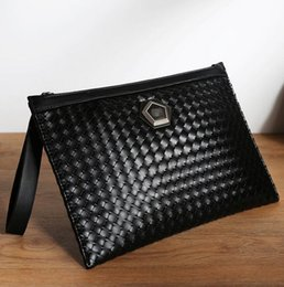 Wholesale Men S Leather Wallet Pockets - wholesale brand personality essential hand woven bag metrosexual man hand bag leather fashion large men's wallet s casual woven hand ba