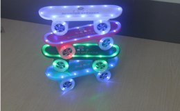 Wholesale Scooter Mini - Newest Toy scooters speaker design led light portable bluetooth speaker Stereo TF Card U Disk Support Speaker with Stand Holder
