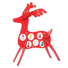 2019 tierverzierungen großhandel Wholesale-1pcs Holz Weihnachtsschmuck Schöne Santa Deer Tier Weihnachtsbaum Ornament Festival Home Decor Mini DIY Geschenk rabatt tierverzierungen großhandel