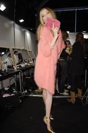 2020 punto abrigos de piel de visón mujeres Al por mayor-Top kojah terciopelo diseño largo suéter de piel cardigan genuino abrigo de cachemira de visón mujeres visón de punto punto abrigos de piel de visón mujeres baratos