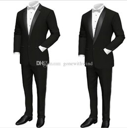 Wholesale Rope Light For Wedding - groom wear mens wedding suits wedding tuxedos (jecket+pant) prom tuxedos suits mens tuxedos for wedding party