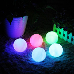 Wholesale Changing Lights - Wholesale- Colorful Changing Ball LED Light for Children Gift Home Party Wedding Romantic Decor Christmas Lamp Night Light for Baby Kid