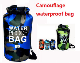 Wholesale Tennis Equipment Wholesalers - 500DPVC waterproof bag backpack outdoor sun drift beach tourism equipment swimming diving camouflage bucket M488
