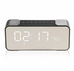 Wholesale Led Mobile Phone Display - Luxury Bluetooth Speaker PTH-305 Wireless Stereo Music Sound Box Support FM Radio Line in TF Time LED Display Alarm Clock Mini Speakers