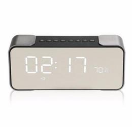 Wholesale Mp3 Player Alarm Clock Radio - Luxury Bluetooth Speaker PTH-305 Wireless Stereo Music Sound Box Support FM Radio Line in TF Time LED Display Alarm Clock Mini Speakers
