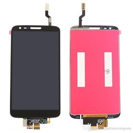 Wholesale Touch Spare - For LG G2 D800 LCD - White Black LCD touch Screen Panel Replacement spare parts free repairing tools
