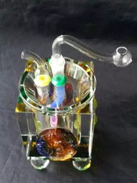 Wholesale Spoon Crystal - Crystal hoses glass bongs accessories  , Glass Smoking Pipes colorful mini multi-colors Hand Pipes Best Spoon glas