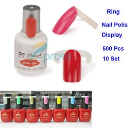 Wholesale Plastic Colour Ring - Wholesale- Makartt 10Set 500pcs Polish UV Hot Sell Gel Color Ring For Nail Art Colour Chart Displays Display DIY Tools Nail Tips F0149X