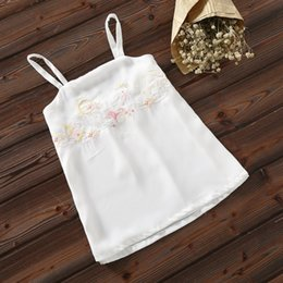Wholesale Hanfu Women - Real Time Hanfu Woman Squirrel Embroidery FLOWER Vest Camisole Suit-dress Nation Chinese Wind Element Rendering Vest Woman 1626353320
