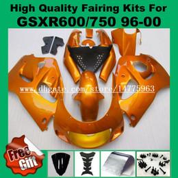 Wholesale 98 Gsxr Fairings - 9Gifts fairing kit for SUZUKI GSXR600 GSXR750 1996 1997 1998 1999 2000 GSX-R600 GSX-R750 96 97 98 99 00 GSXR 600 750 Fairings orange #72L9A