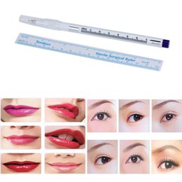 Wholesale Tattoo Tools For Makeup - Wholesale- New Women Pen:14cm;Ruler:15cm Surgical Skin Marker Pen Scribe Tool for Tattoo Piercing Permanent Makeup Anne