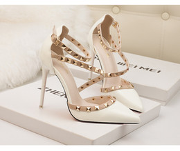 Wholesale Wholesale Nude Heels - HOT STYLE! Sexy Dress Shoes With Box Wedding Party High Heels High Quality Woman Sandals Free Shipping