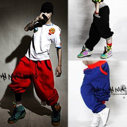 Wholesale Cotton Pant Baggy Hip Hop - Fashion Womens Men Casual Hip Hop Harem SweatPants Ladies Baggy Sport Wide Leg Trousers DanceWear StreetWear Cheap loose Jogging pants