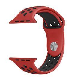 Neu Angekommenes NK-Sport-Silikon Mehr Loch-Bügel-Bänder für Uhr-Reihe 1/2 Bügel-Band 38 / 42mm Armband 4g lte Klon-Telefon von Fabrikanten