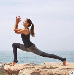 Wholesale Wholesale Female Jeggings - Hot sale mesh splice fitness leggings trousers for women athleisure 2017 jeggings grey black slim legging pants female elastic