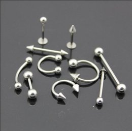 Wholesale Nose Studs Pearl - 1pcs new fashion lip stainless steel body and fake earrings punk Gothic nose stud septum piercing jewelry