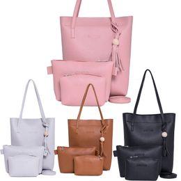 handtaschen-sets Rabatt Großhandels- 2017 neue 3 PCS Frauen Handtasche Sets Damen PU Leder Schultertasche Messenger Satchel Purse Tote Crossbody