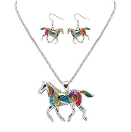 Wholesale Cheap Women Earrings - Jewelry Sets Cheap Earrings Necklaces For Women Butterfly Elephant Horse Alloy Sets European USA Fashion Hot Sale Wholesale Free Shipping