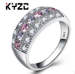 2017 new arrival top qualidade s925 anel de prata esterlina para as mulheres conjunto com zircão colorido estilo bohemia de Fornecedores de anéis de ônix brancos