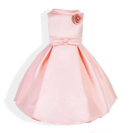 Дети бальное платье девушки хлопок стерео цветок лук пояса отворотом рукавов платье принцессы 2017 новый летний дети вечернее платье supplier cotton kids dressing gown от Поставщики хлопок детские халаты