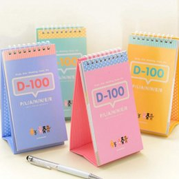 Wholesale Count Day - Wholesale- 100 days count down planner for study office memo 2017 Agenda Diary stationery school supplies cuaderno lindo material escolar