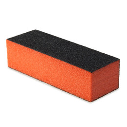 Wholesale Sand Abrasives - Wholesale- Professional Silicon Carbide Abrasive Nail Buffer BLock Sponge Sanding Pad Black There Sponge Nail Polish 1478246