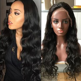 Wholesale European Virgin Hair Wig - 360 Lace Frontal Wig Pre Plucked Body Wave Brazilian Virgin Full Lace Wigs Human Hair 22.5x4x2 360 Lace Wigs For Black Women