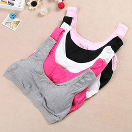 Wholesale Tank Tops For Girls Kids - White Black Sports Bras For Girls Cotton Children's Bra Kids Sports Training Bra Underwear For Teens Lingerie Girl Student Teenagers