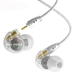Wholesale Pro Monitoring - HOTSELL MEE M6 PRO earphones headset universal-ft noice-isolating musician's in ear monitor earphones DHL Free shipping EAR224