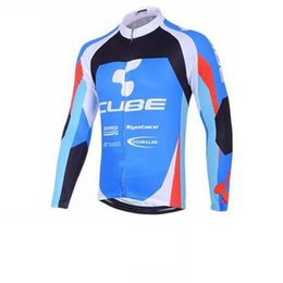 Wholesale Cube Mtb - New cube Bike jersey Cycling Jersey Long Sleeve jacket maillot Cycling Clothing MTB Cycle Clothes Ropa Ciclismo Sportswear C3124