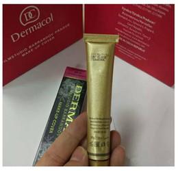 Wholesale Dc Color - Dermacol DC Skin Concealer foundation Base Make up Makeup Cover Extreme Covering Foundation Hypoallergenic Waterproof 30g Tattoo handling