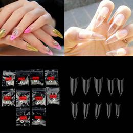Wholesale Fake Nails Girls - Wholesale-500Pcs Women Girls Clear Transparent Acrylic UV Gel Manicures Fake False Nails Nail Art Tips Tools Top Quality