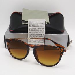 Wholesale Blue Sight - 1pcs New Style Fashion Sunglasses For Mens Womens Erika Eyewear Designer Brand Sun Glasses Black Beige Gradient 52mm Lenses With box Case