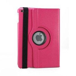 Pour Apple iPad 5 air Case Lichee Motif Case Fashion 360 Degrés Rotation PU En Cuir Stand Housse Coque OPP Sac ? partir de fabricateur