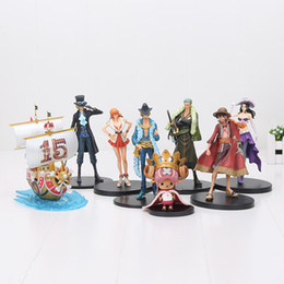 Wholesale Action Figures One Piece Chopper - DXF One Piece Sabo Luffy Sanji Nami Nico Robin Chopper Rebecca PVC Action Figure Collectible Model Toy Chilidren gift 11-18cm