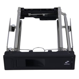 """Wholesale Hard Disk Tools - Wholesale- 1pc Tool Free 5.25-Inch CD-ROM Space HDD Frame Mobile Rack Converter Enclosure for PC Case,fit 3.5"""" SATA Hard Drive Disk instal"""