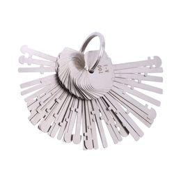 Desbloquear herramientas online-KLOM Warded Pick Set (40 llaves) Ward Lock Keys Warded Lock Llave esqueleto Warved Keys Herramientas de desbloqueo para cerrajeros profesionales