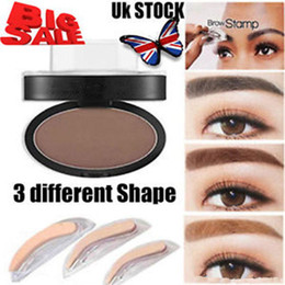 Wholesale New Eyebrow Powder - wholesale-5 Colors long Lasting Eyebrow Pencil Waterproof Eyebrow Shadow Definition Makeup Brow Stamp Powder Palette New