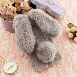 Wholesale Wholesale Iphone Bunny Case - for Huawei Y6II Y6 ii Galaxy S8 S8Plus LG G6 TPU Bag Cover Cute Cases Rabbit Bunny Warm Furry Fur TPU Phone Case