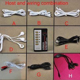 Wholesale Special Toy Sex - 2016 New Electric Dual Output Special Electro Shock Pulse Massage Host Electric Shocking Sex Toys Accessory SM 8 sets of wiring with