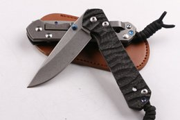 Wholesale Carbon Sand - Newer recommended Christie's carbon fiber version of the big sand knife 60-62HRC Folding Knife camping hunting knife folding knife 1pcs free