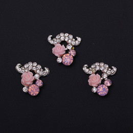 Wholesale Diamond Flower Nail Art - Style Nail Art Decorations Finishes Exquisite Flowers Nails Stickers Handmade Diamonds Zircon Ornaments Alloy Nail Patches