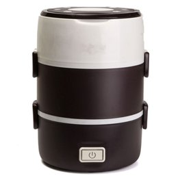 Wholesale Stainless Steel Inner Pot - New Arrival Electric 2L Portable Lunch Box Mini Rice Cooker Steamer 3 Layer Stainless Steel Home Kitchen Cooking Tools