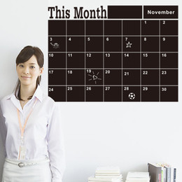 Wholesale Calendar Stickers - 2017 new This Month blackboard Stickers WALL STICKER Monthly Plan Calendar Chalkboard wall stickers Office & School Supplies 46.5*58.5CM (7)