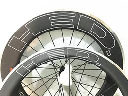 Wholesale Carbon Wheelset China - carbon alloy wheel for bike in china alu c wheels mixed 23 wheelset 700C OEM 60&90mm U profile Clincher rim alloy brake suface