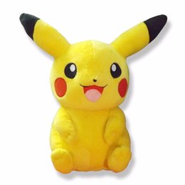 Wholesale Pikachu Plush Doll Christmas - 2017 New 35cm Pikachu Plush Toys Children Gift Cute Soft Toy Cartoon Pocket Monster Anime Kawaii Baby Kids Toy Pikachu Stuffed Plush Doll